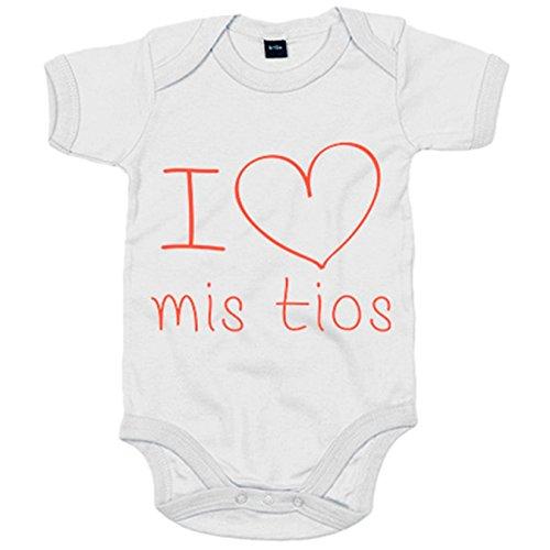 Body bebé I Love mis tíos - Blanco, 6-12 meses