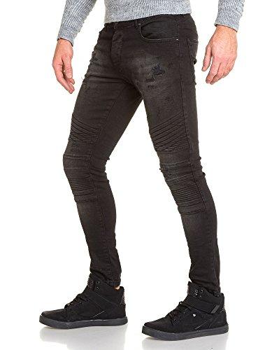 BLZ jeans - Jean schlanker schwarzer Mann unstrukturierten getragen Schwarz