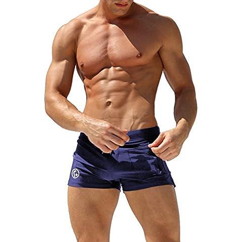 con Taschino Costume da Bagno Uomo Boxer Elastico e Coulisse a Vita Bassa Slim , per Nuoto Spiaggia Mare Piscina Sport Slip Pantaloncini Calzoncini Mutande