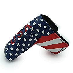 Cloudwhisper 1pcs Golf Putter Blade Covers For Golf Scotty Cameron Putter Usa Flag Embroidery Headcover