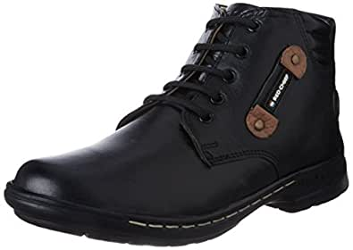 Redchief Men's Black Leather Boots - 10 UK  (RC6011 001)