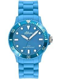 s.Oliver Unisex-Armbanduhr Medium Size Silikon blau SO-2294-PQ
