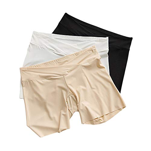 Zhou Yunshan Femme Culotte de Grossesse Femmes Enceintes Pantalon de sécurité Anti-lumière sous-vêtement Respirant en Soie de Glace, 3 pcs. Coton Respirant Confort (Taille : L) par  Zhou Yunshan