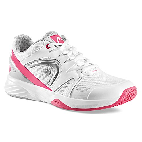 HEAD Nitro Team Women, Chaussures de Tennis Femme Blanc (White/pink)