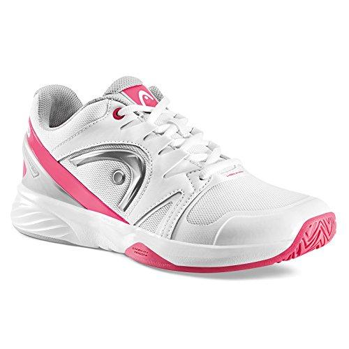 Head Nzzzo Team Women, Scarpe da Tennis Donna Bianco (White/pink)