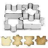 Edelstahl Kekswerkzeug Küchenwerkzeug Puzzle Muster 4 Stück/Set Gebäck Fondant Dessert Formen...