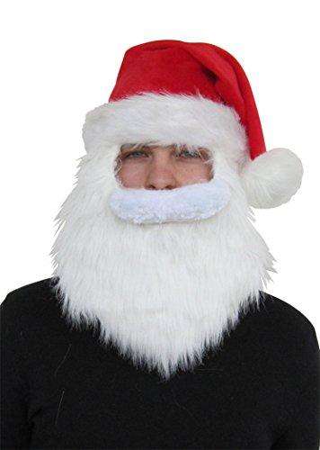Generique Weihnachtsmann Mütze und Bart in Einem für Erwachsene