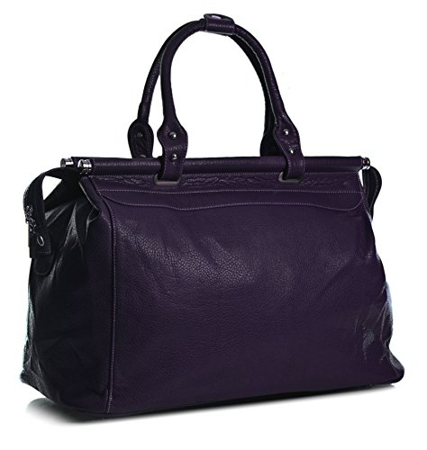 Big Handbag Shop ,  Damen handtaschen Purple (BG460)