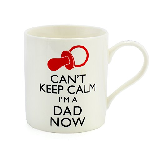 Can't Keep Calm I'm a Dad Now Funny Mug - Perfect Dad Gift Idea for Expectant or New Parents - For Baby Shower, Father's Day, Christmas or Birthday - Fun Daddy to be present from Wife