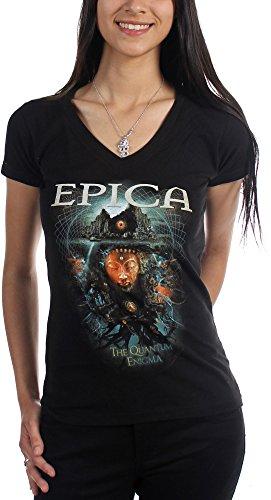"""Epica-Maglietta da donna """"Enigma Quantum nero Small"""