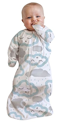 Bébé Studio tout-en-un Swaddle Sac, 3 à 9 mois, nuages Menthe poivrée