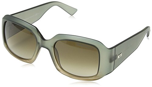 Emporio Armani Damen EA 9795/S Wayfarer Sonnenbrille, Light Brown Frame / Grey & Brown Gradient