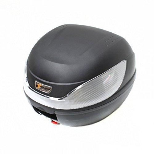 Wohnstyle24 Topcase Koffer 054 schwarz Hartschalenkoffer Aufbewahrung Gepäck Motorradkoffer Motorradtasche Top Case