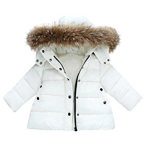 Sannysis Babykleidung Baby Mädchen Jungen Kinder Daunenjacke Mantel Herbst Winter Warme Kinder Kleidung 1-3Jahre (100, Weiß)