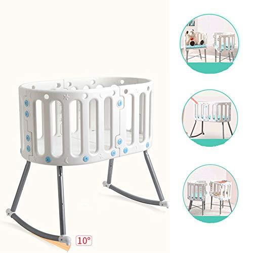 GL Kinderbett Krippe Kunststoff Multifunktions faltbar Spleißbett Geeignet für Neugeborene
