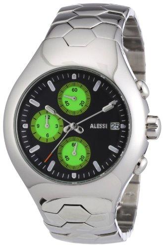 Alessi - AL 11012 - Montre Homme - Quartz - Analogique - Chronographe - Bracelet Acier Inoxydable Argent