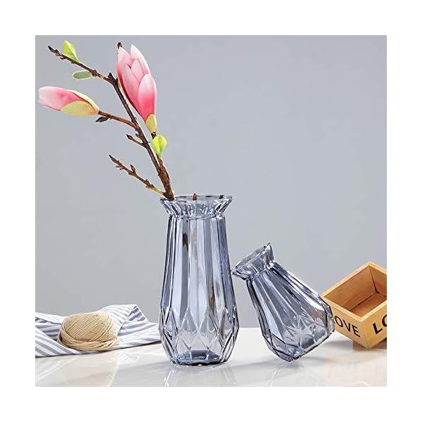 Hosaire 1X Jarrón de Cristal Floreros de Terrario Lindas Macetas de Vidrio de Sobremesa Moderno de Florero para…