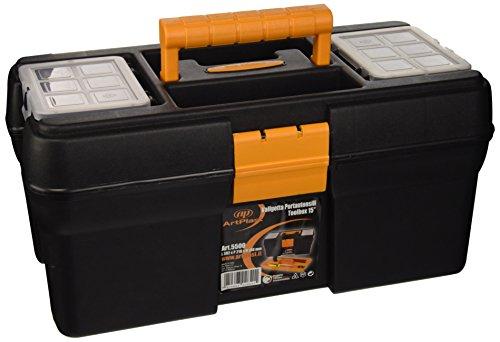 Art plast 5500 valigetta porta utensili in plastica, nero/giallo