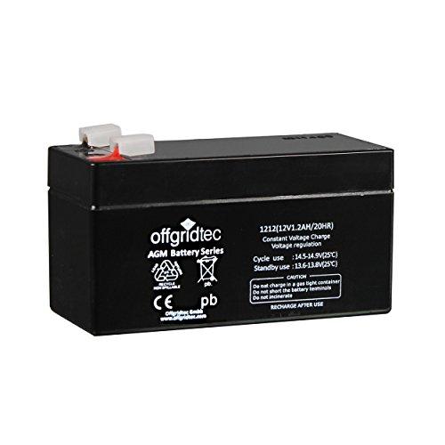 Offgridtec AGM Solar Batterie Extrem zyklenfest 1,2 Ah 20 Stünde 12 V, 2-01-001975