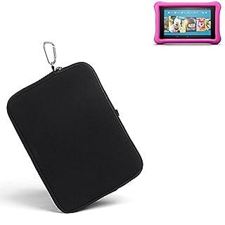 K-S-Trade® für Amazon Fire HD 8 Kids Edition (2017) Neopren Hülle Schutzhülle Neoprenhülle Tablethülle Tabletcase Tablet Schutz Gürtel Tasche Case Sleeve Business schwarz für Amaz