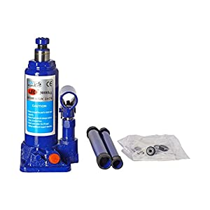 Varshine® Bloom || MBK Super Premium Heavy Car Hydraulic Jack for All Cars (Universal) (Blue & Red) G-35