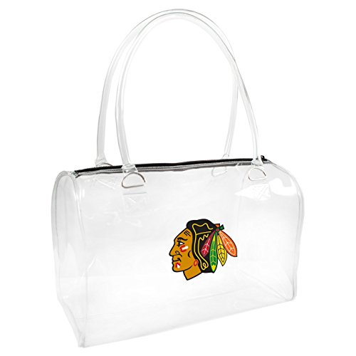 Littlearth NHL Chicago Blackhawks Damen Bowler Handtasche, One size, transparent