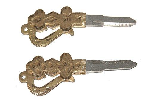 Enfield County-Coppia di Enfield reale di proiettile in ottone a forma di spada, lato destro Blank Key Fob Uncut