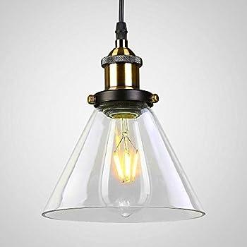 maxmer suspension luminaire industrielle vintage r tro abat jour verre plafonnier lustre edison. Black Bedroom Furniture Sets. Home Design Ideas