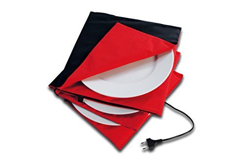 Solis 906.31 - Calentador de platos, tamaño grande, antracita roja