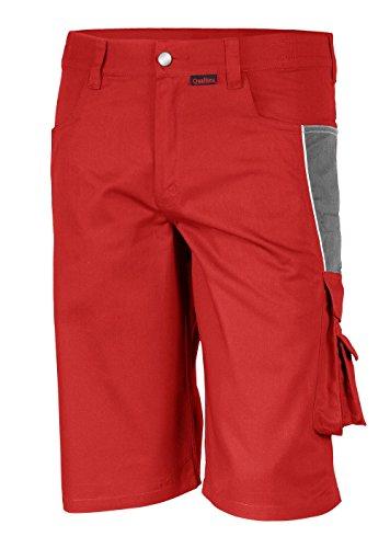 Qualitex PRO Shorts MG245 - rot/grau - Größe: 58