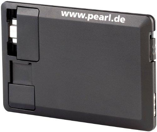 PEARL Slim Power Bank: Notfall-Powerbank im Kreditkartenformat für Micro-USB-Geräte (USB Powerbanks Slim)