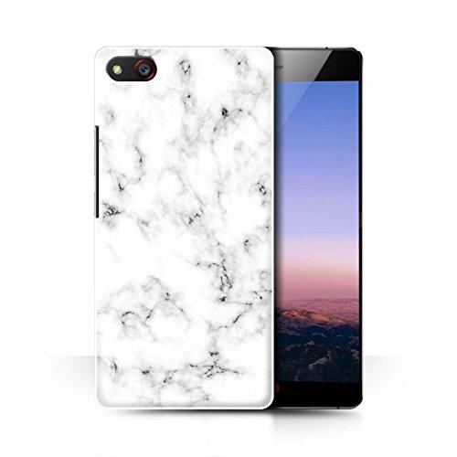 Stuff4® Hülle/Case für ZTE Nubia Z9 Max/Weiß Muster/Marmor Granit Bewirken Kollektion