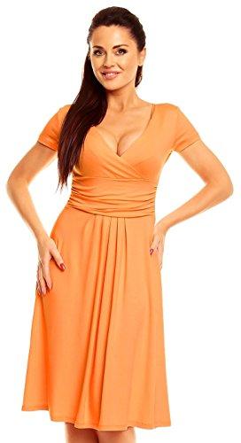 Zeta Ville - abito di maglina - manica corta - estivo vestito - donna - 108z Albicocca