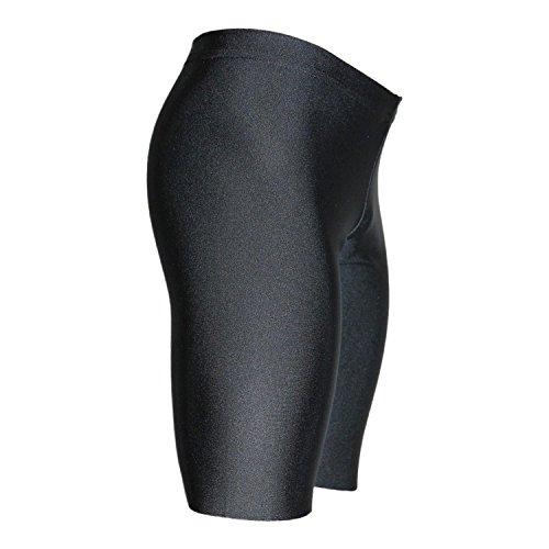 Turnhose 1/2 Leggings aus Lycra mit Glanzeffekt Farbe schwarz, Größe 152