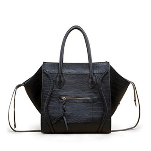 Women , Damen Tote-Tasche Litchi grain black Litchi grain black