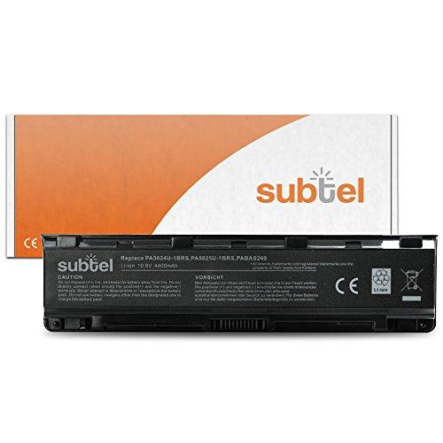 subtel Akku für Toshiba Satellite Pro C855 L850 C850 C870 L870 L855 P870 C875 L830 P875 L875 P850 P855 L850 P845 C840 C800 C805 C840 C845 L800 L805 L830 L840 L845 M800 M805 M840 M845 P800 - 4400mAh Ersatzakku Toshiba PA502...-1BRS PABAS25 PABAS26