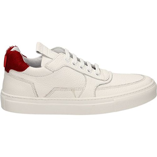MARIANO DI VAIO , Chaussures de sport d'extérieur pour femme Blanc Cassé blanc/rouge 36 EU blanc/rouge