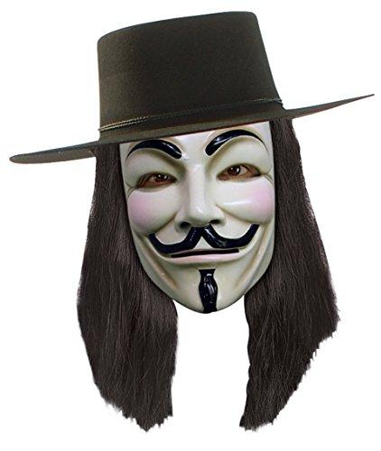 schwarze Perücke V für (Perücke Vendetta)
