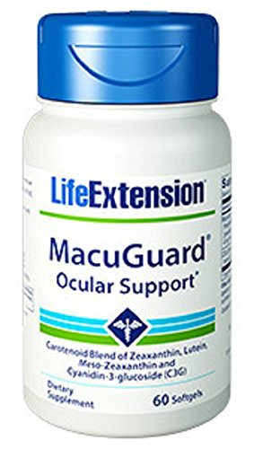 'Life Extension MacuGuard With a Zeaxanthin Complex & Lutein, 60