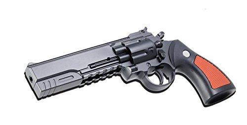Réplica de pistola de bolas de 25cm tipo revólver, ABS negro y marrón, 0.3Julios, 50569Airsoft