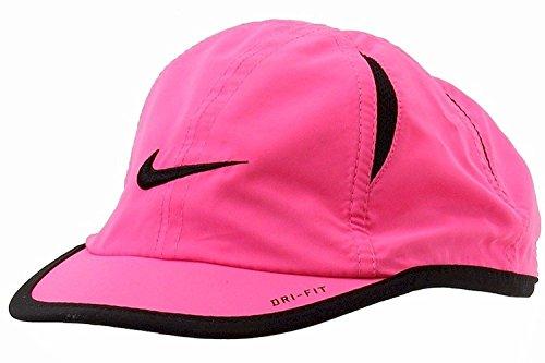 Nike Mädchen Gesticktes Swoosh Logo Rosa Pow/Schwarz Dri-Fit Baseball Cap Sz: 4/6 X
