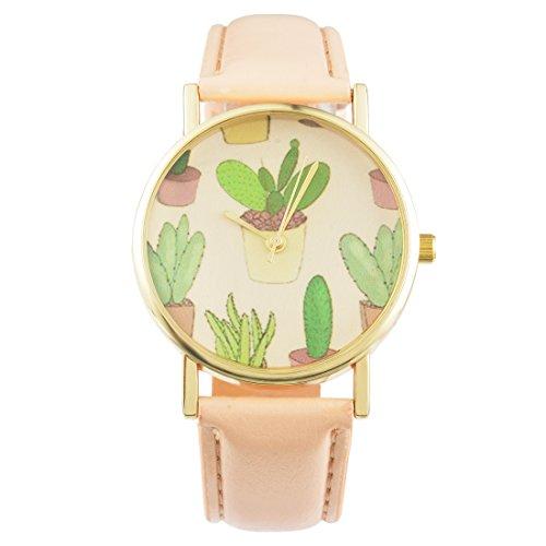 souarts-damen-einfach-design-kunstleder-kaktus-armbanduhr-quartzuhr-analog-mit-batterie-beige