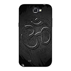 Delighted Om Grey Back Case Cover for Galaxy Note 2