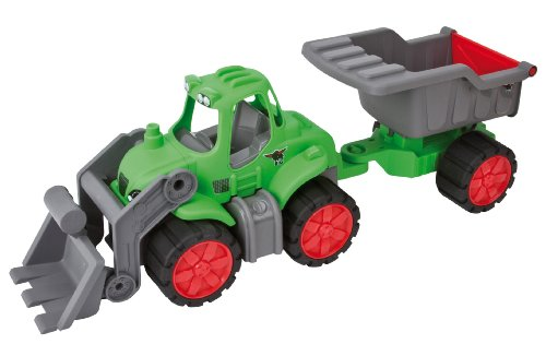 BIG 56838 Power-Tractor Muldenkipper mit Anhänger, mehrfarBIG