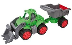 BIG 56838 - Tractor con Pala cargadora y volquete, 66 cm