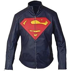 F&H Boy's Superman Jacket L Dark Blue