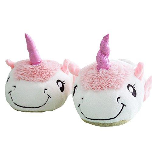 Kenmont Unicorn Einhorn Plüsch Hausschuhe Pantoffeln Plüsch Spielzeug Schuhe für Kinder / Erwachsene (Hausschuhe, Pink) New Unicorn
