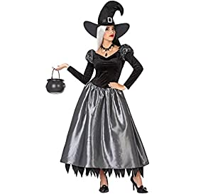 Atosa-53944 Atosa-53944-Disfraz Bruja para Mujer Adulto-Talla, Color gris, Xl (53944