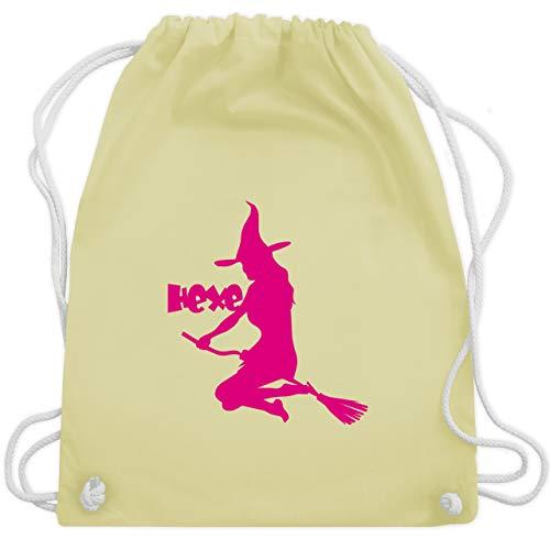 Halloween - Hexe auf dem Besen - Unisize - Pastell Gelb - WM110 - Turnbeutel & Gym Bag (Lustige 2019 Für Männer Halloween-kostüme)