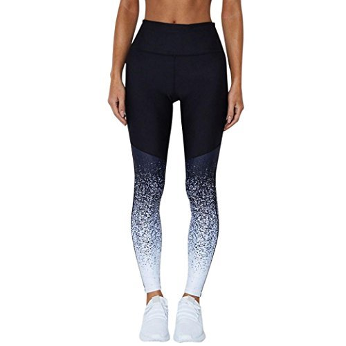 Yogahosen Für Damen,Jaminy Frauen Sport Yoga Workout High Taille Running Pants Fitness Elastische Leggings Strumpfhose Leggins Hose Strumpfhose Elastische Taille (M)
